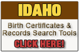 Idaho birth records search tool